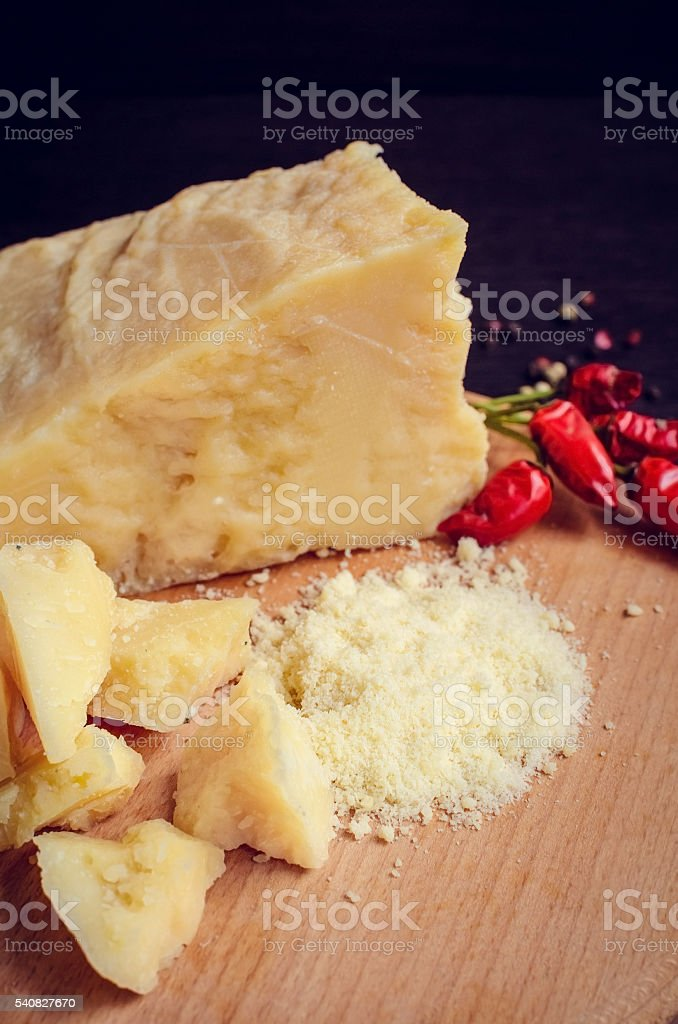 Tasty appetizer. Plate of Cheese. stock photo