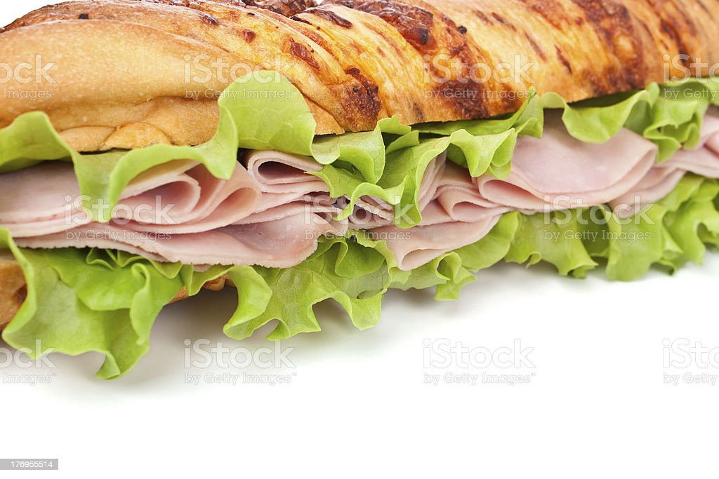 tasty baguette sandwich royalty-free stock photo