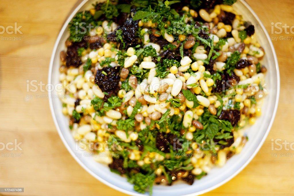 Tasty bean salad stock photo