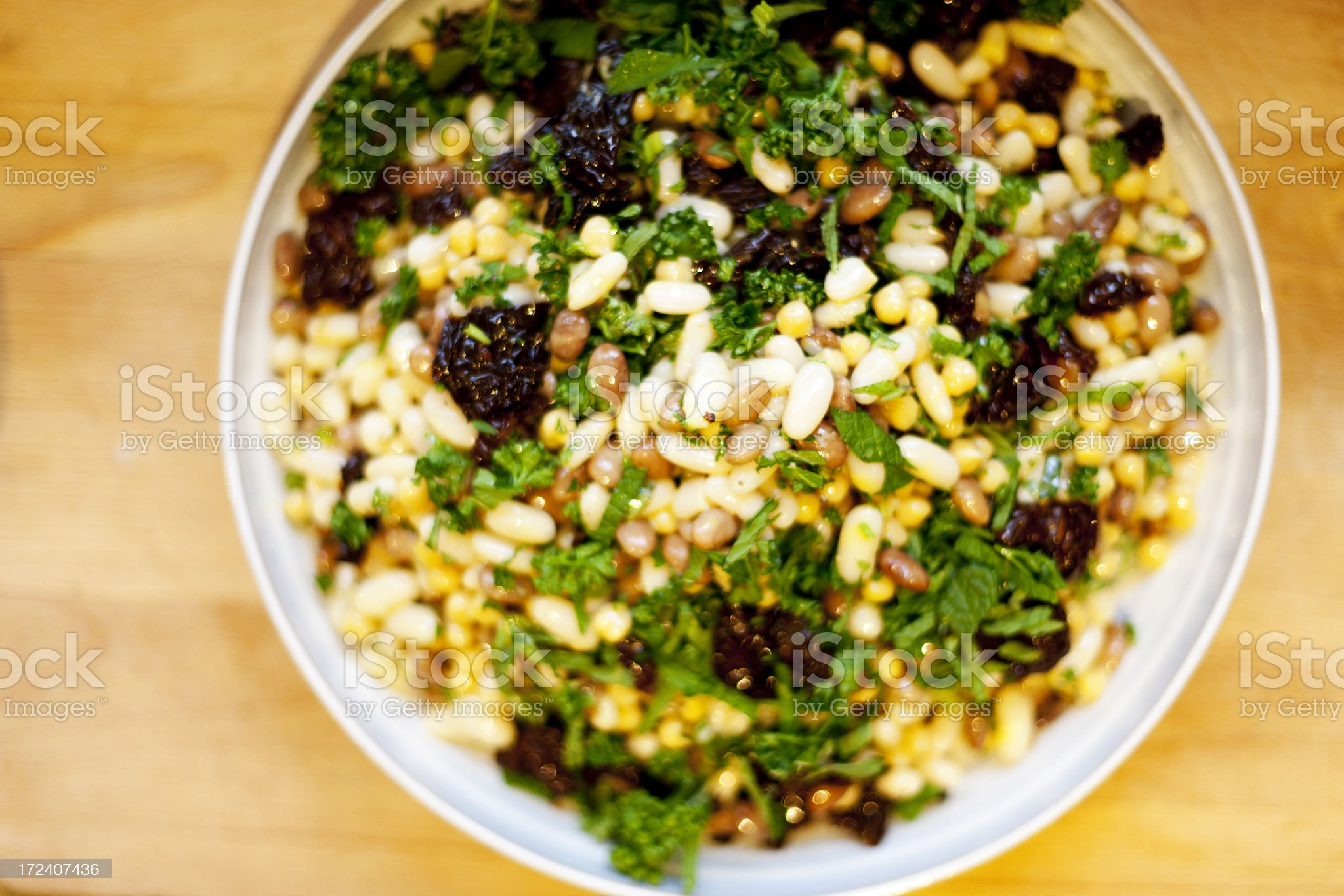 Tasty bean salad royalty-free stock photo