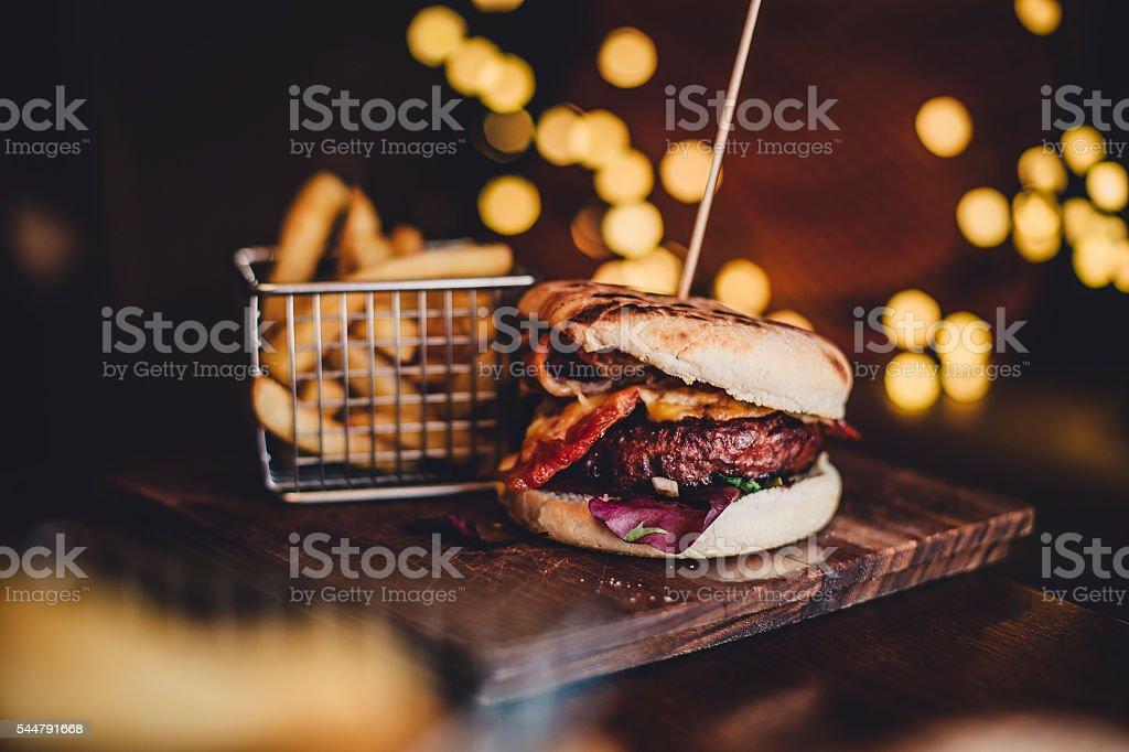 Tasty Beef Burger stock photo