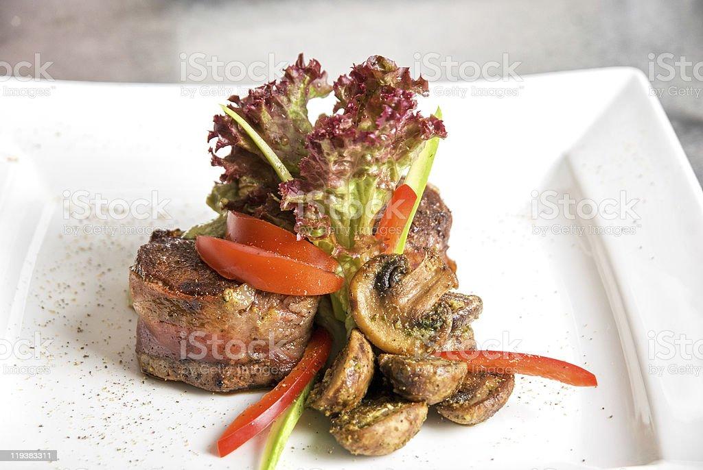 Tasty beef steak royalty-free stock photo