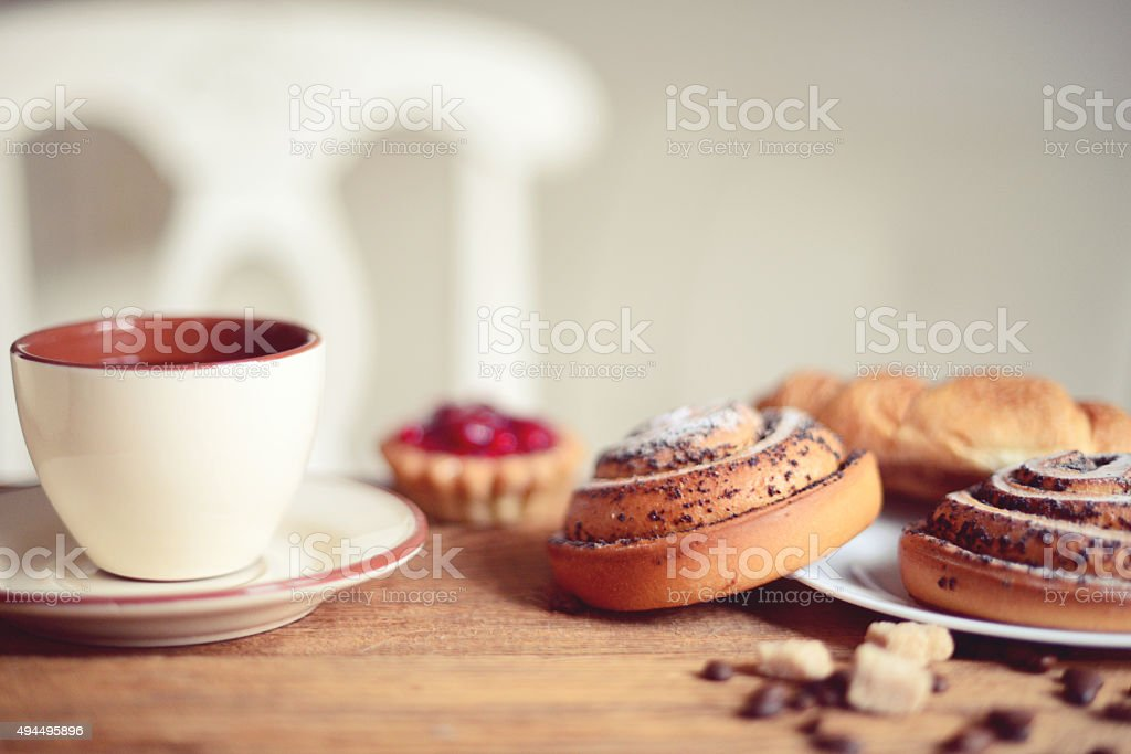 tasty breakfast stock photo