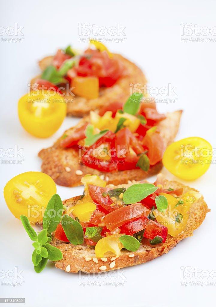Tasty Bruschetta royalty-free stock photo