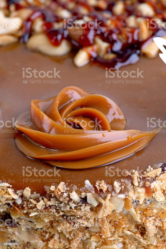 tasty cake on the table stock photo