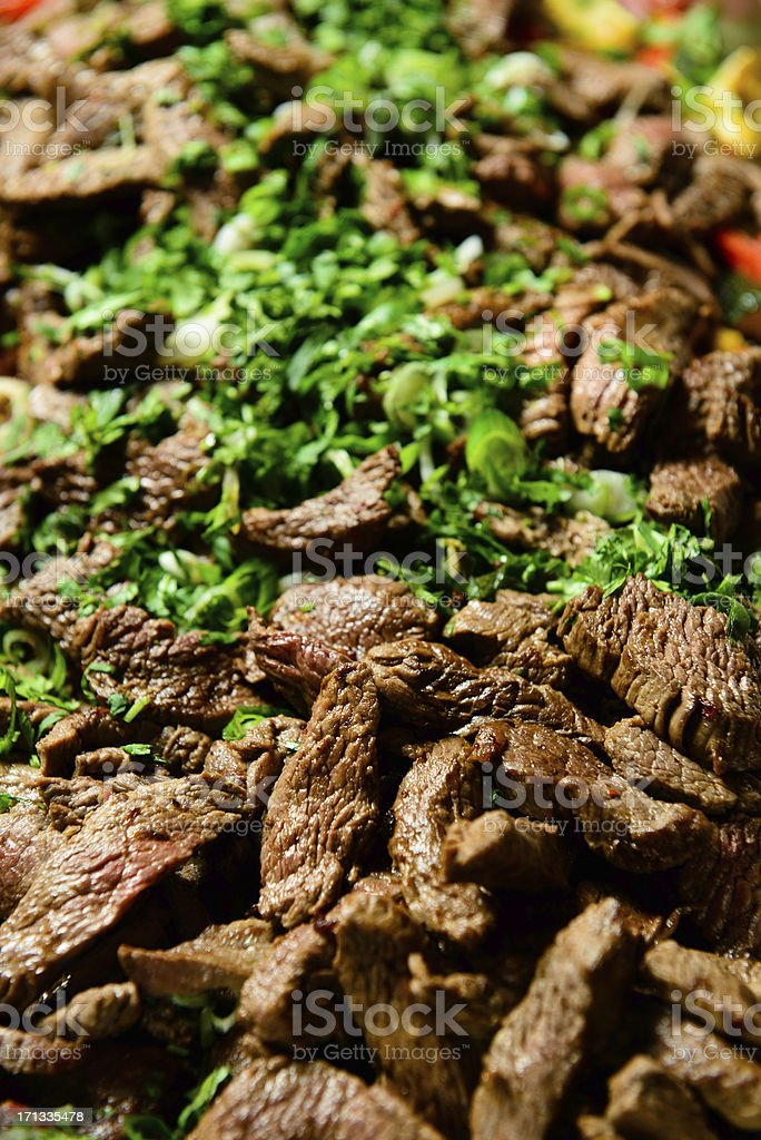 Tasty Carne Asada stock photo