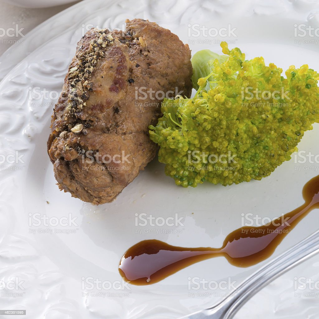 tasty cattle roulades stock photo