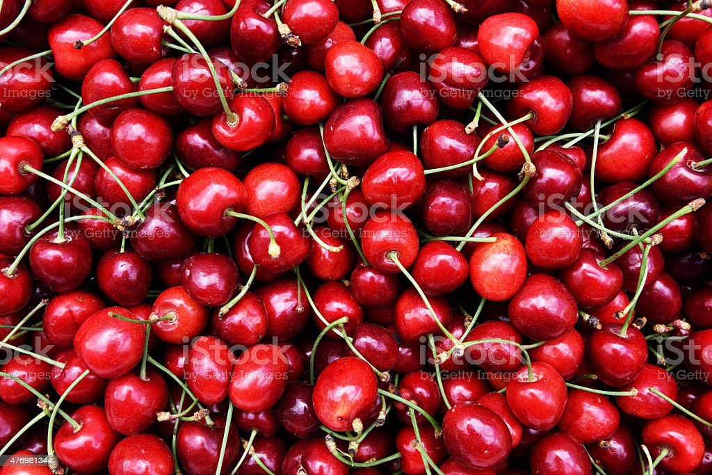 tasty cherries stock photo