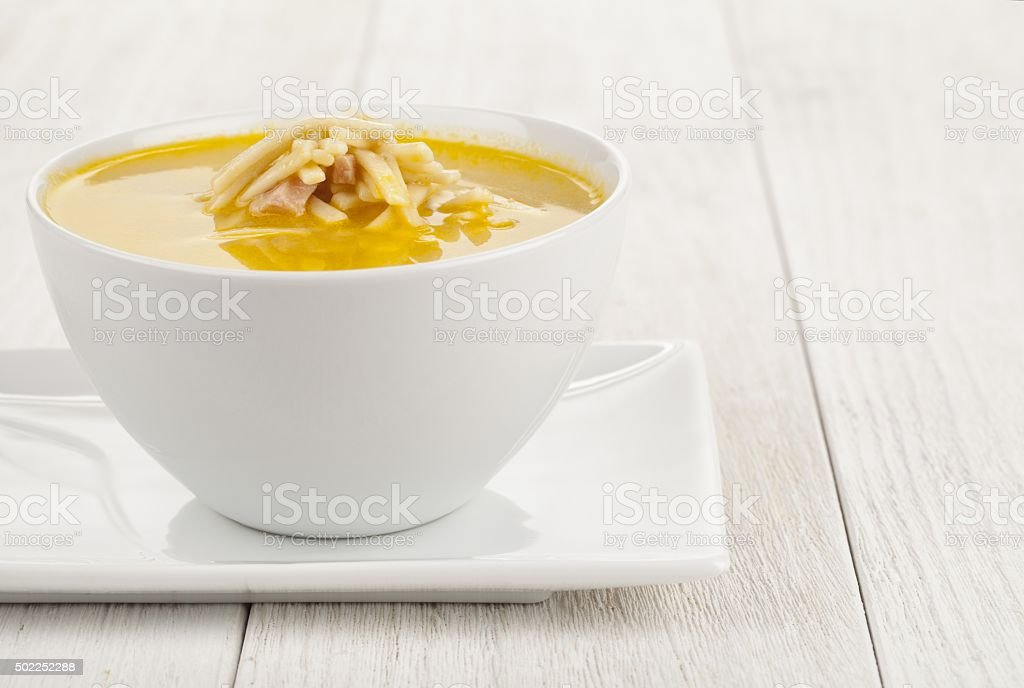 tasty chicken noodle soup stock photo