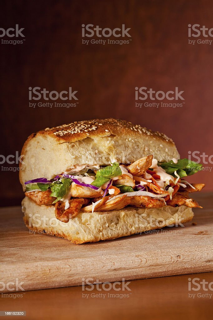 Tasty Chicken Sandwich royalty-free stock photo