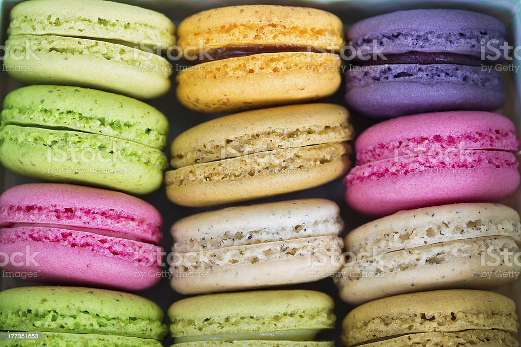Tasty colorful macaroon royalty-free stock photo