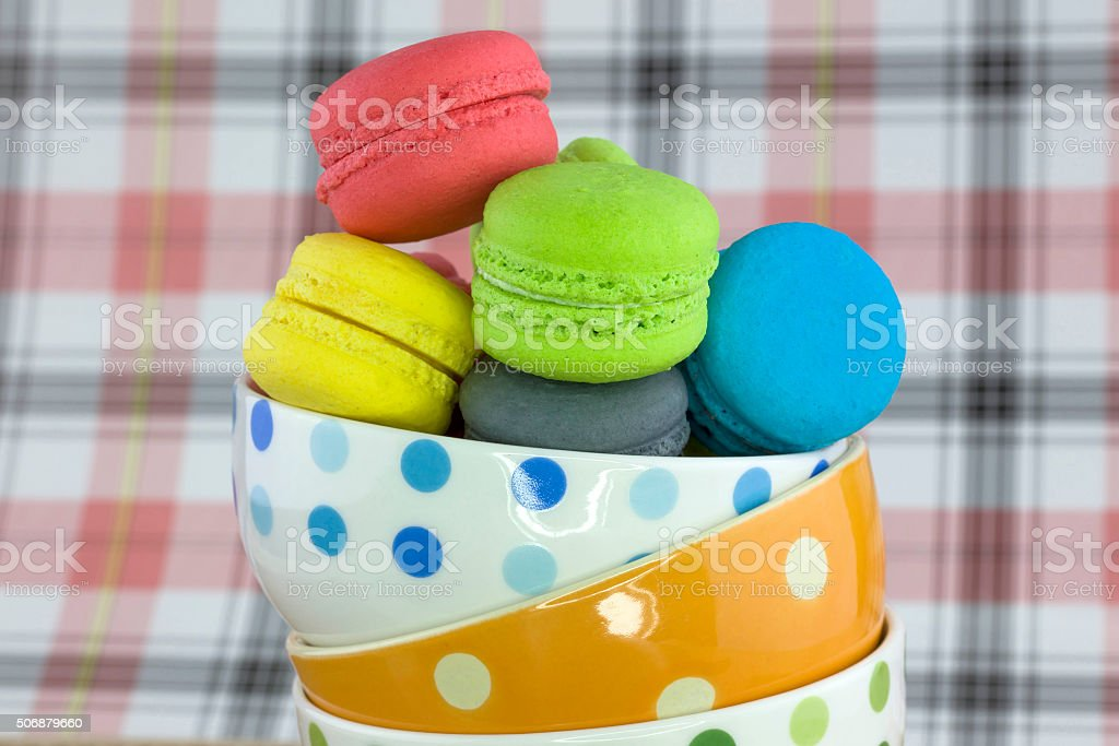Tasty colorful macaroon stock photo