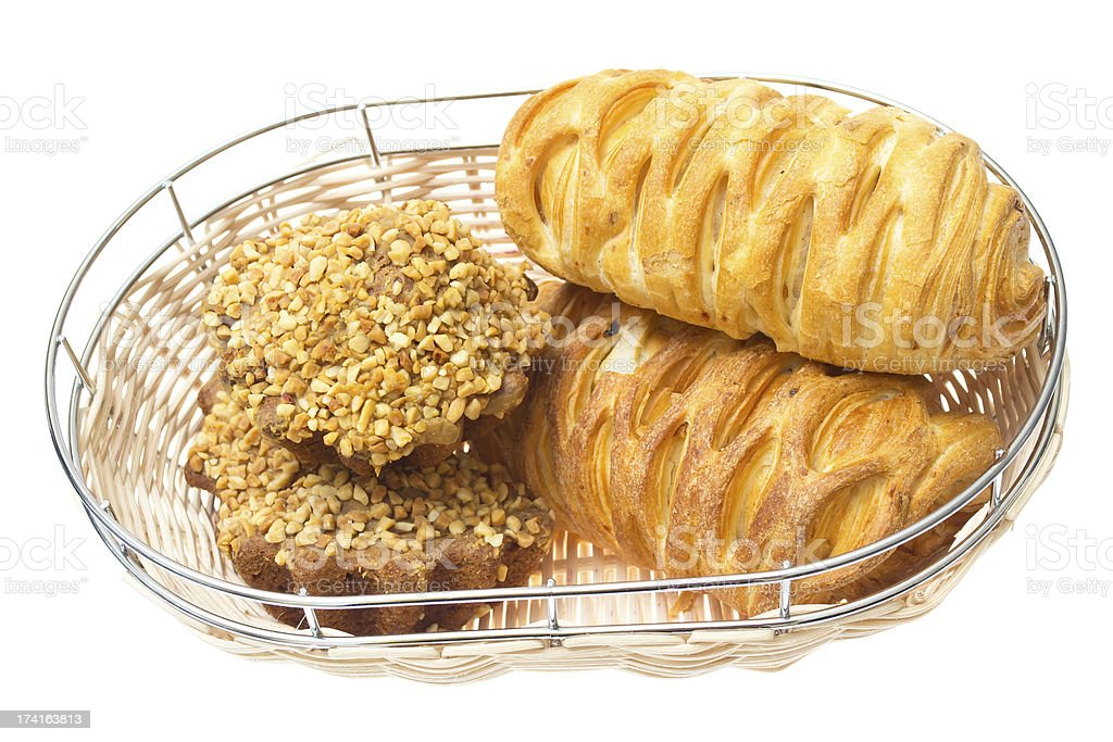 Tasty croissant isolated on the white background. royalty-free stock photo