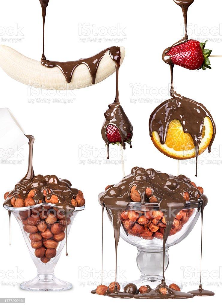 tasty dessert collage stock photo