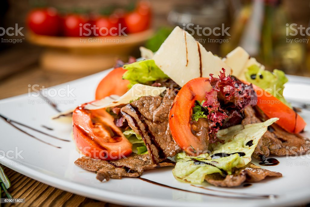 tasty food on the table stock photo
