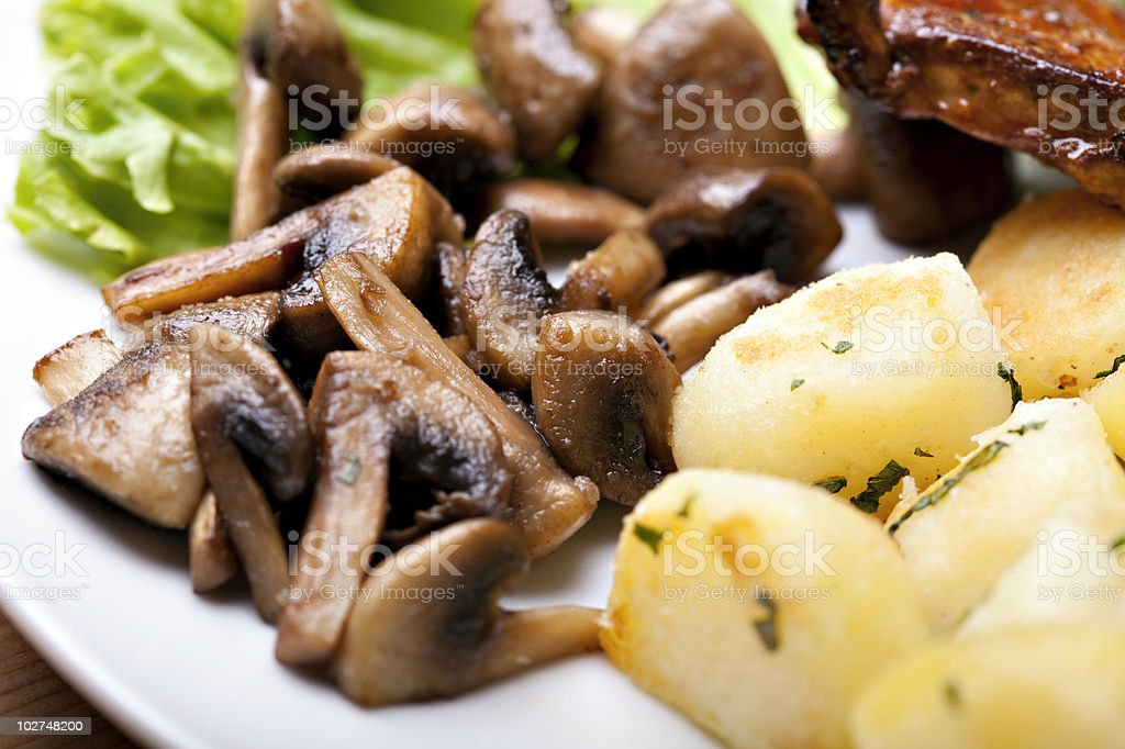 Tasty grilled food royalty-free stock photo