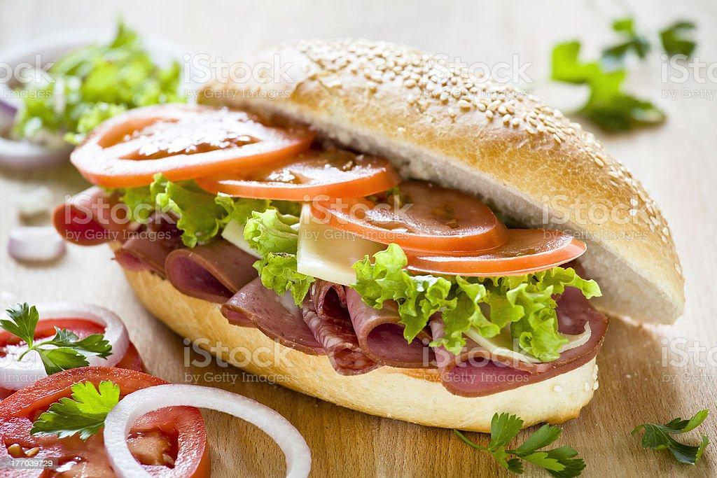 Tasty Ham Sandwich royalty-free stock photo