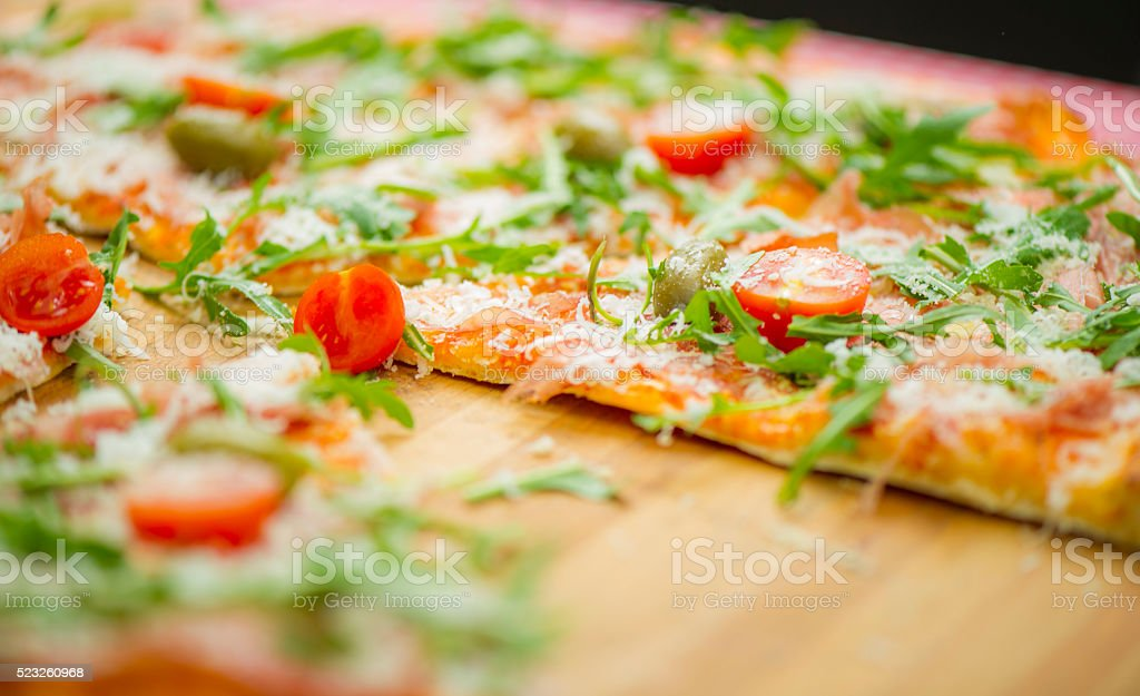 tasty italian pizza stock photo