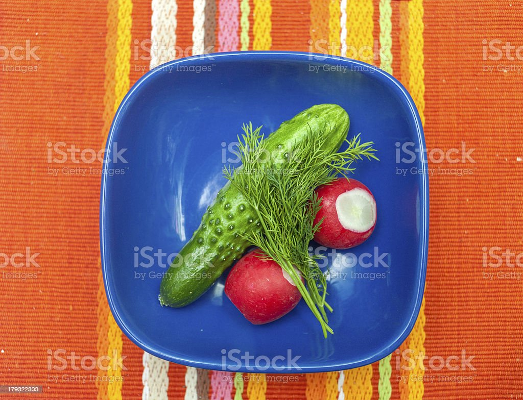 tasty kitchen. fresh vegetables in bowl royalty-free stock photo