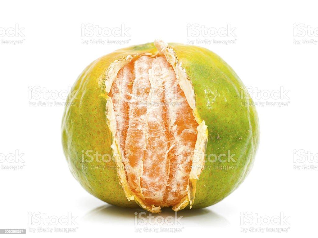 Tasty mandarine isolated on white royalty-free stock photo