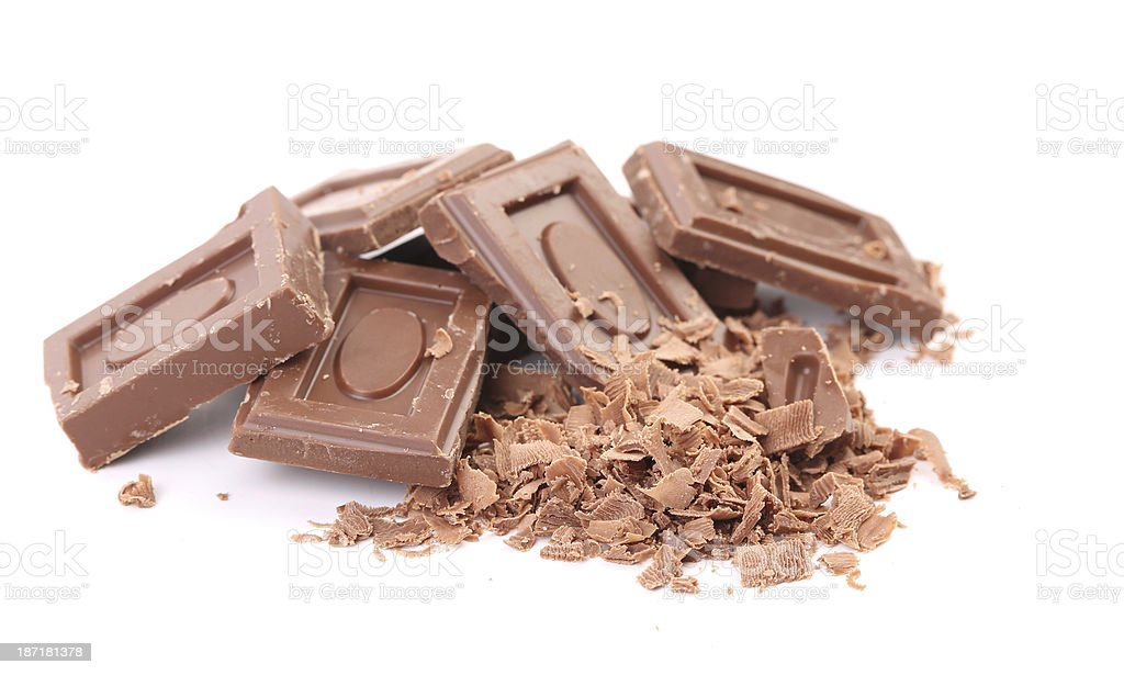 Tasty morsel of milk chocolate. royalty-free stock photo