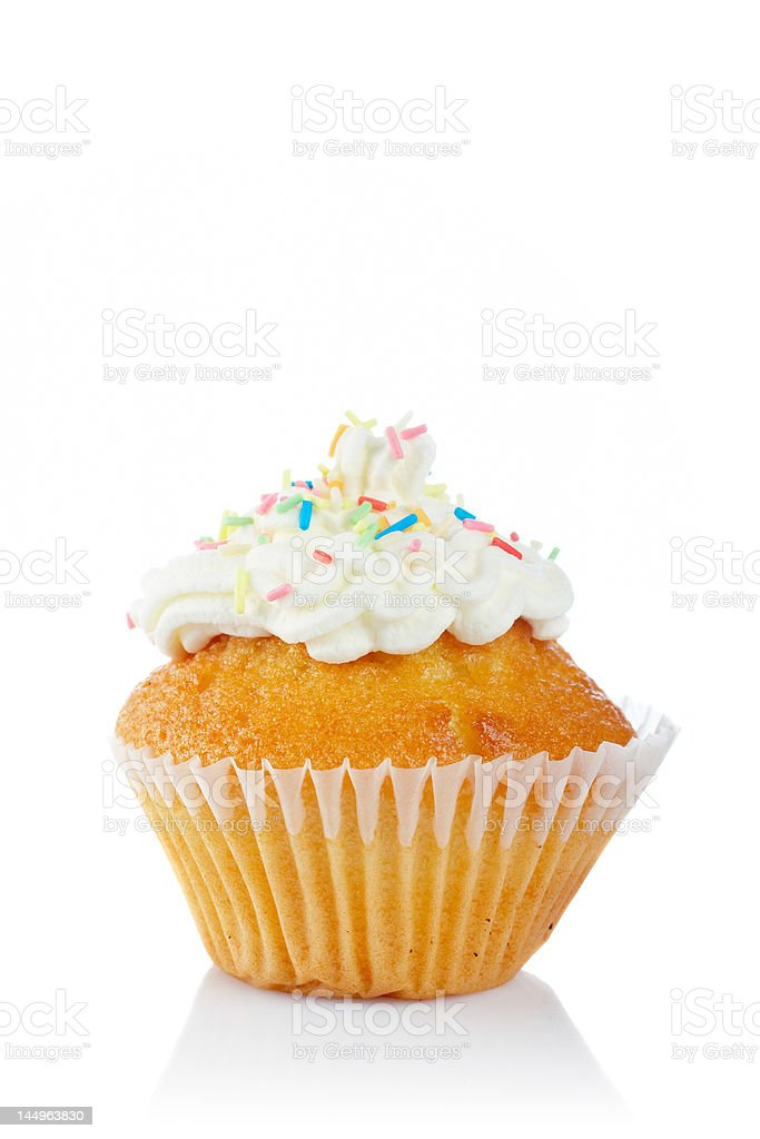 Tasty muffin with cream royalty-free stock photo