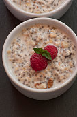 Tasty oatmeal with berries