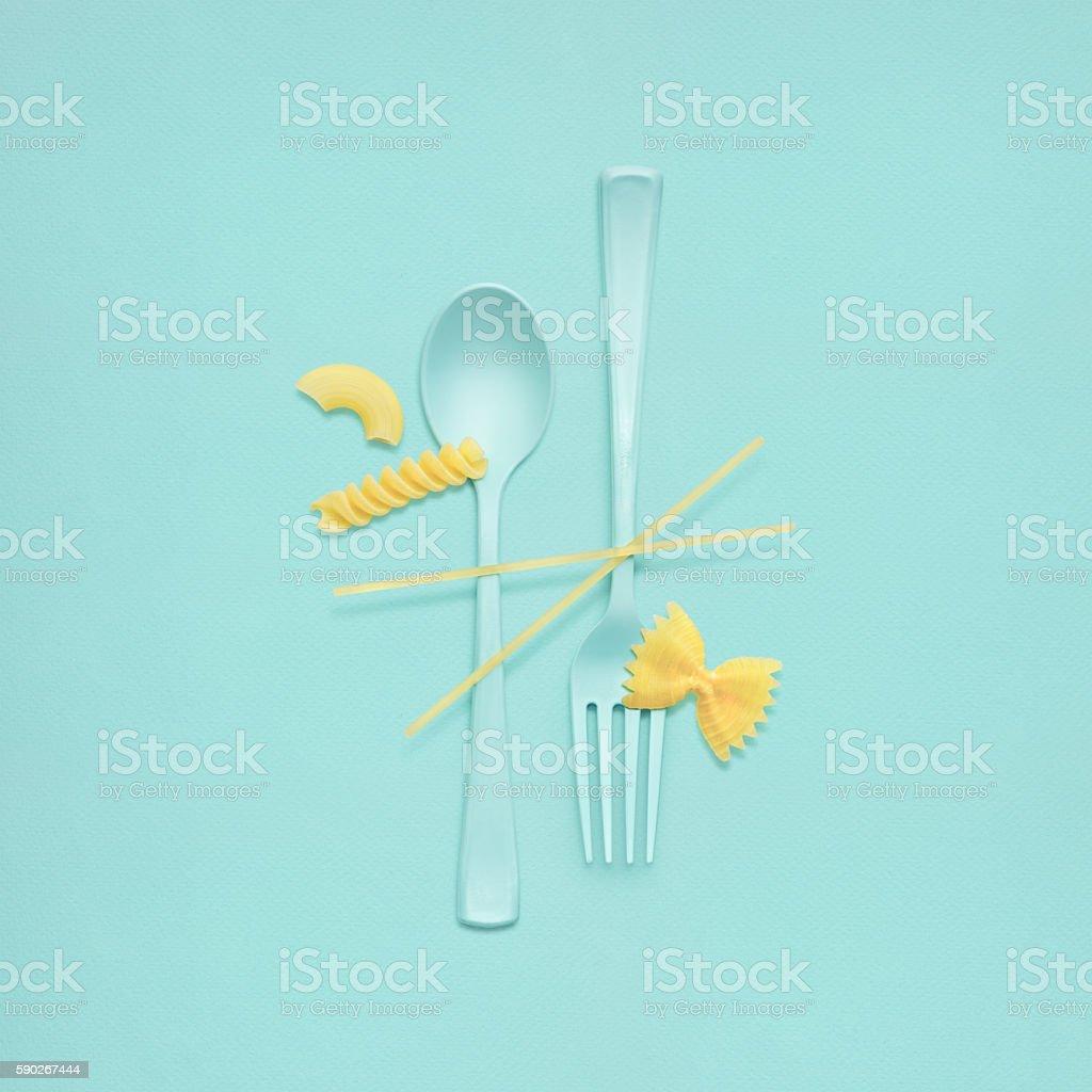 Tasty pasta. stock photo