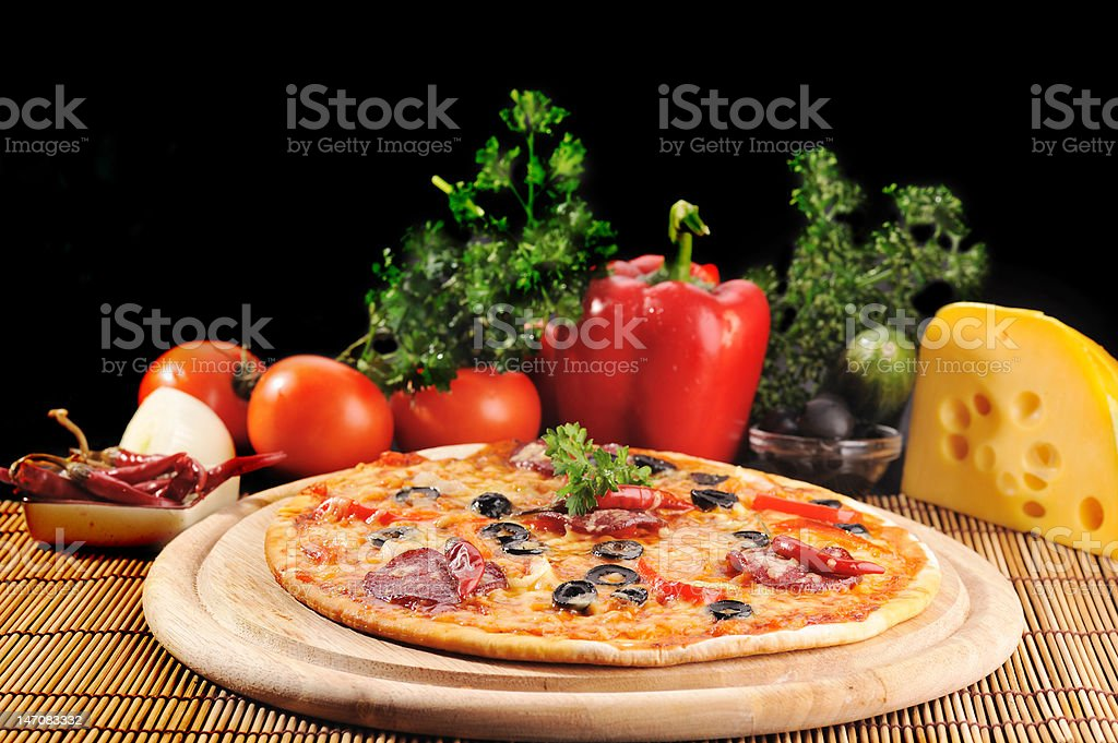 Tasty pizza on  plate royalty-free stock photo