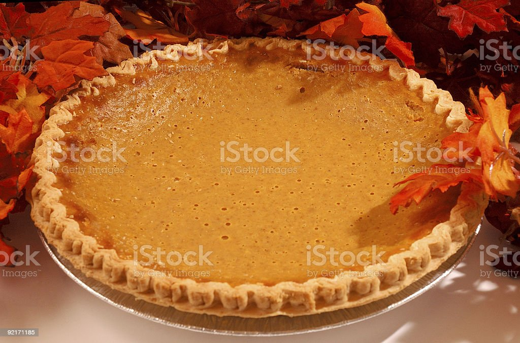 Tasty Pumpkin Pie stock photo