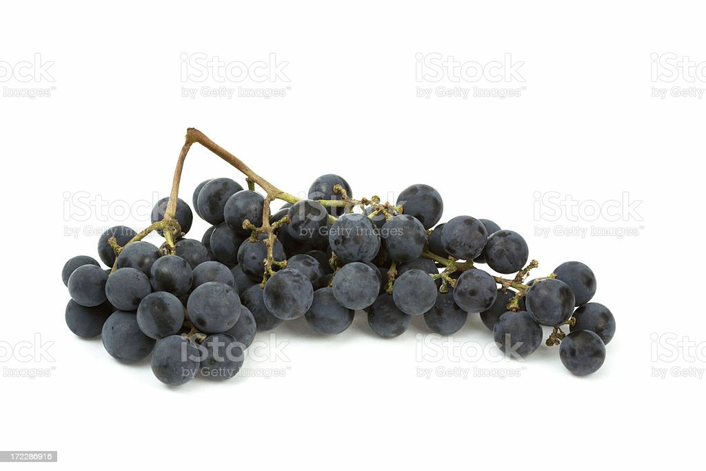 tasty ripe isolated red grape royalty-free stock photo