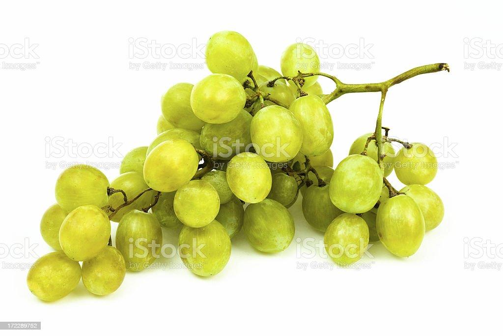 tasty ripe isolated white grape royalty-free stock photo