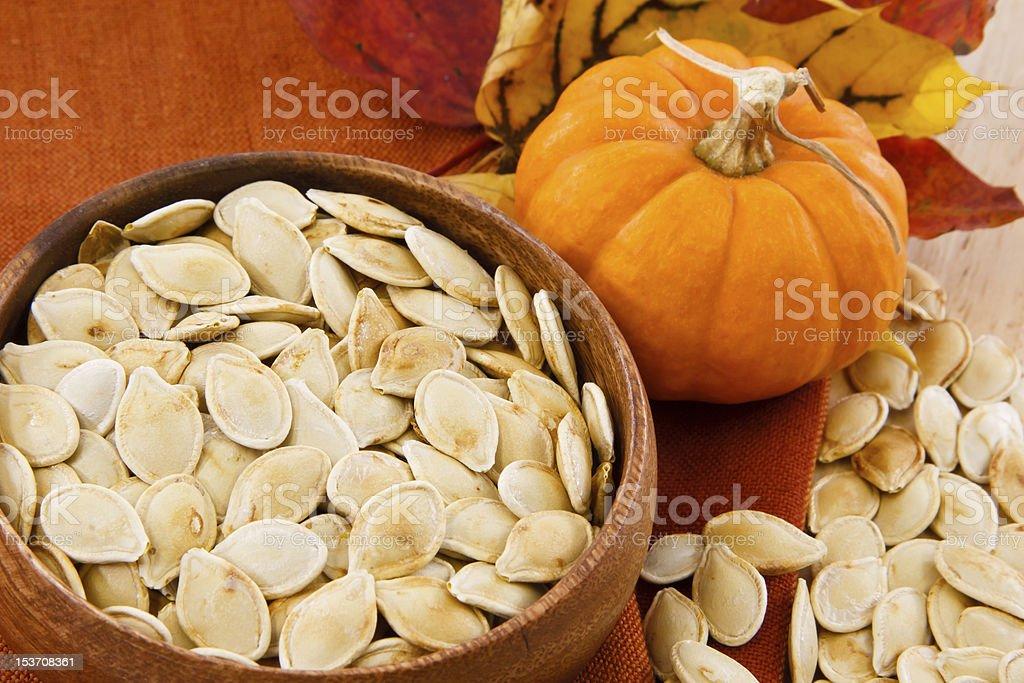 Tasty Roasted Pumpkin Seeds stock photo