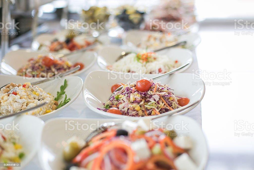 Tasty  salads! stock photo