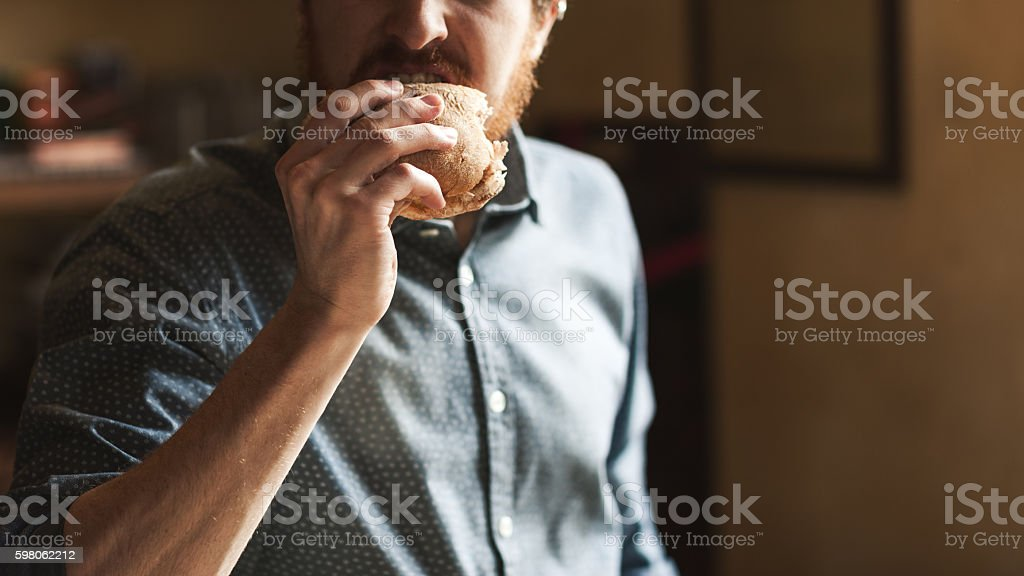 Tasty sandwich for lunch stock photo