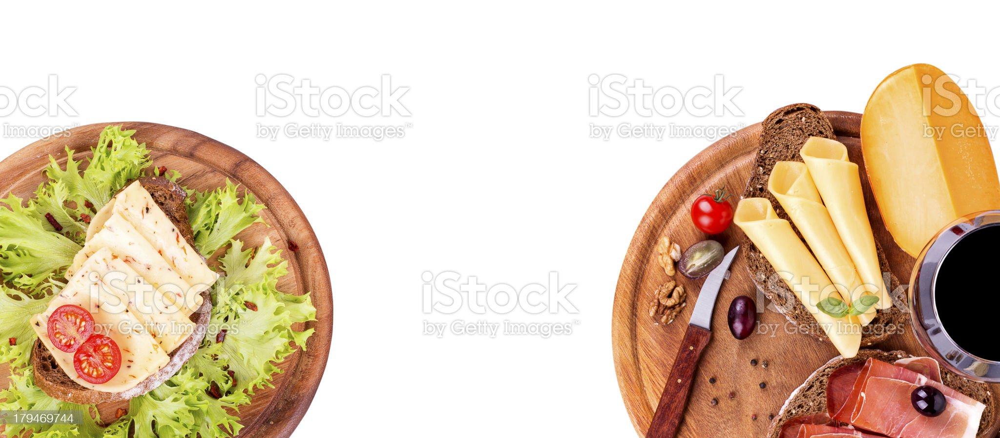 tasty sandwich isolated on white royalty-free stock photo