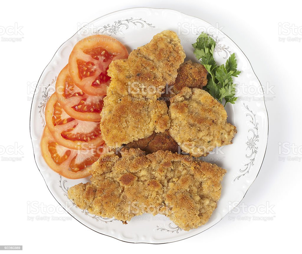 Tasty schnitzels royalty-free stock photo