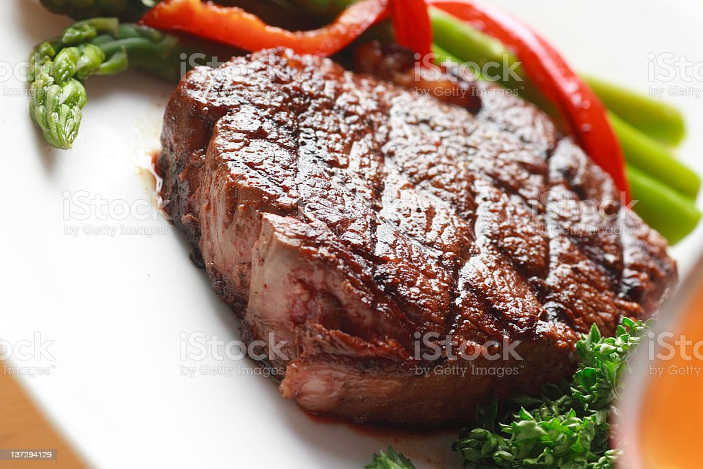 tasty seared steak royalty-free stock photo