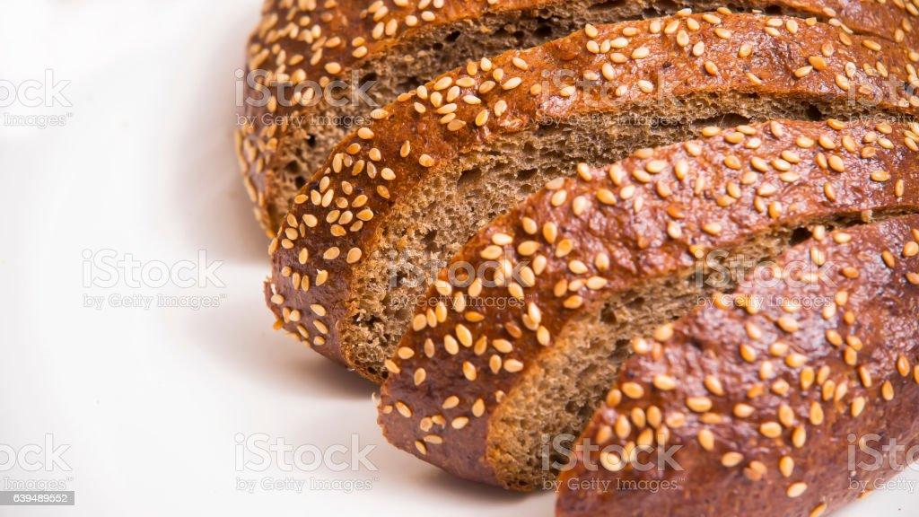 Tasty sliced rye bread stock photo