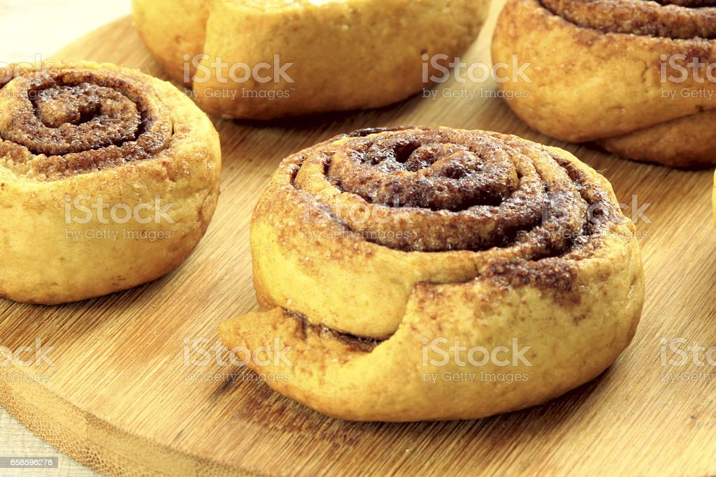 tasty snail-shaped cookies stock photo