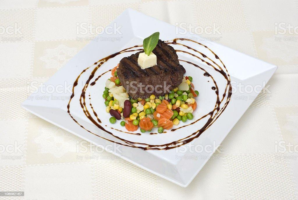 Tasty steak royalty-free stock photo