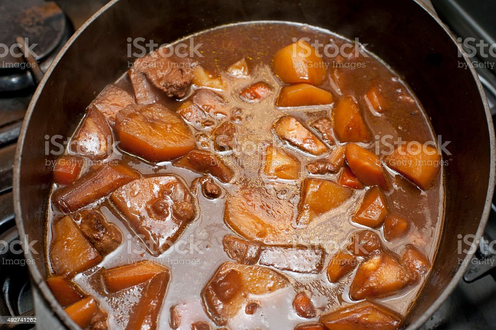 Tasty stew or hot pot stock photo