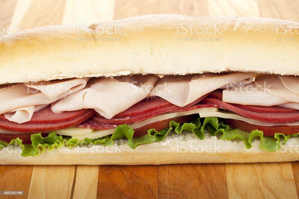 tasty submarine sandwich stock photo