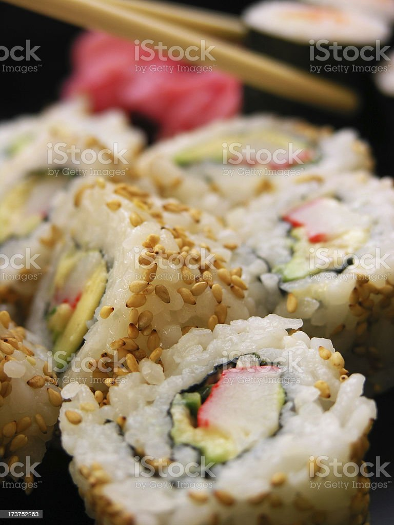 Tasty sushi royalty-free stock photo