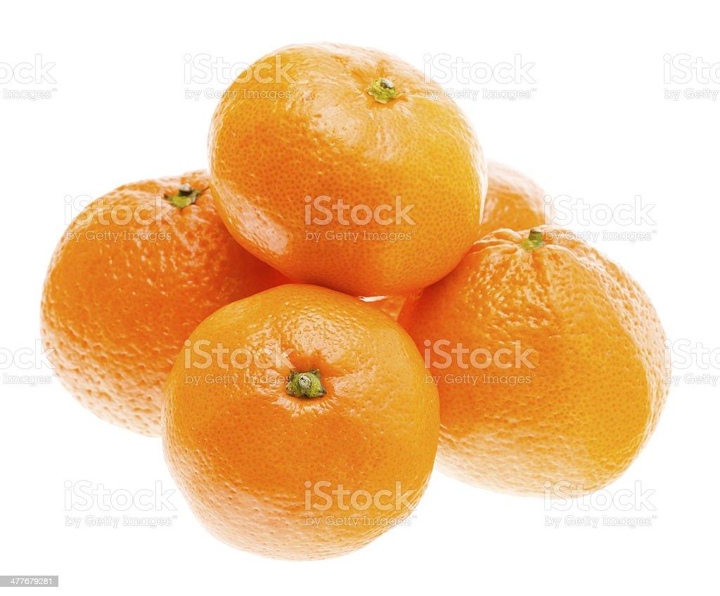 Tasty Sweet Tangerine Orange Mandarin Fruit royalty-free stock photo