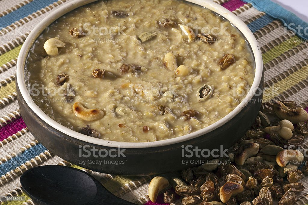 Tasty Thick and creamy Dal payasam. stock photo