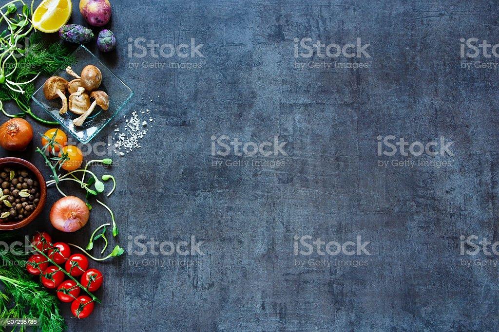 Tasty vegetables background royalty-free stock photo