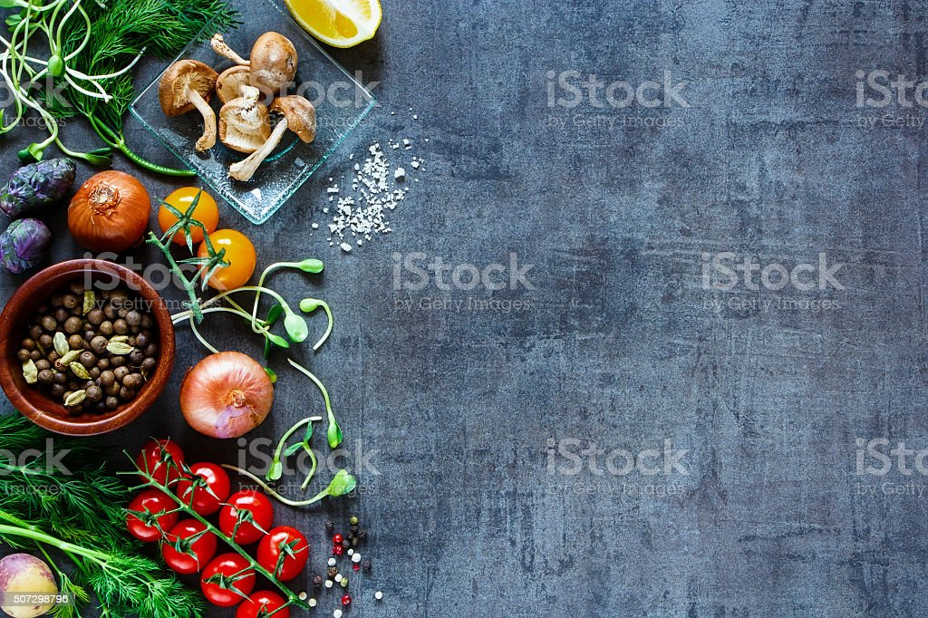 Tasty vegetables background stock photo