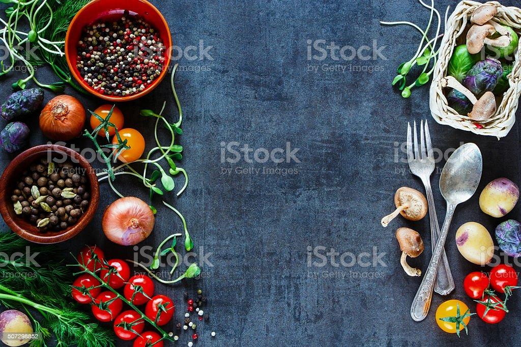 Tasty vegetables background stock photo