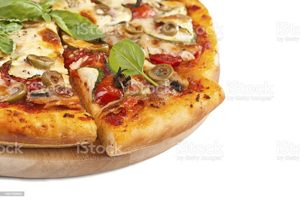 Tasty vegetarian pizza stock photo